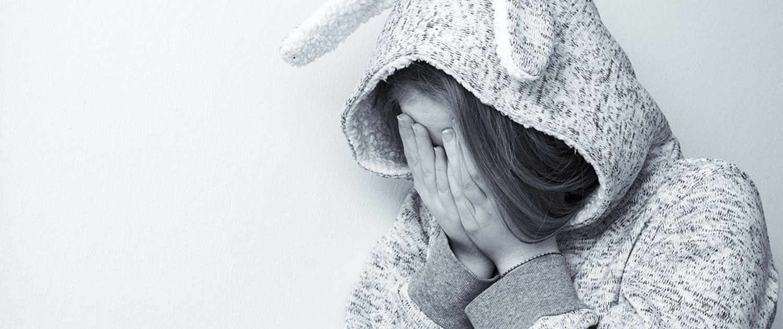 Kind traurig und verängstigt