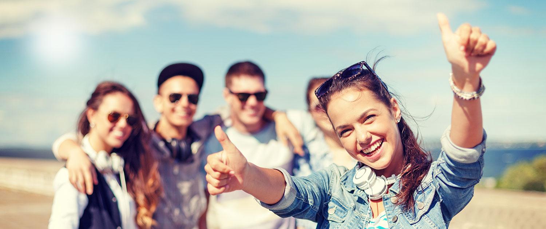 Junge Leute, Lebensfreude
